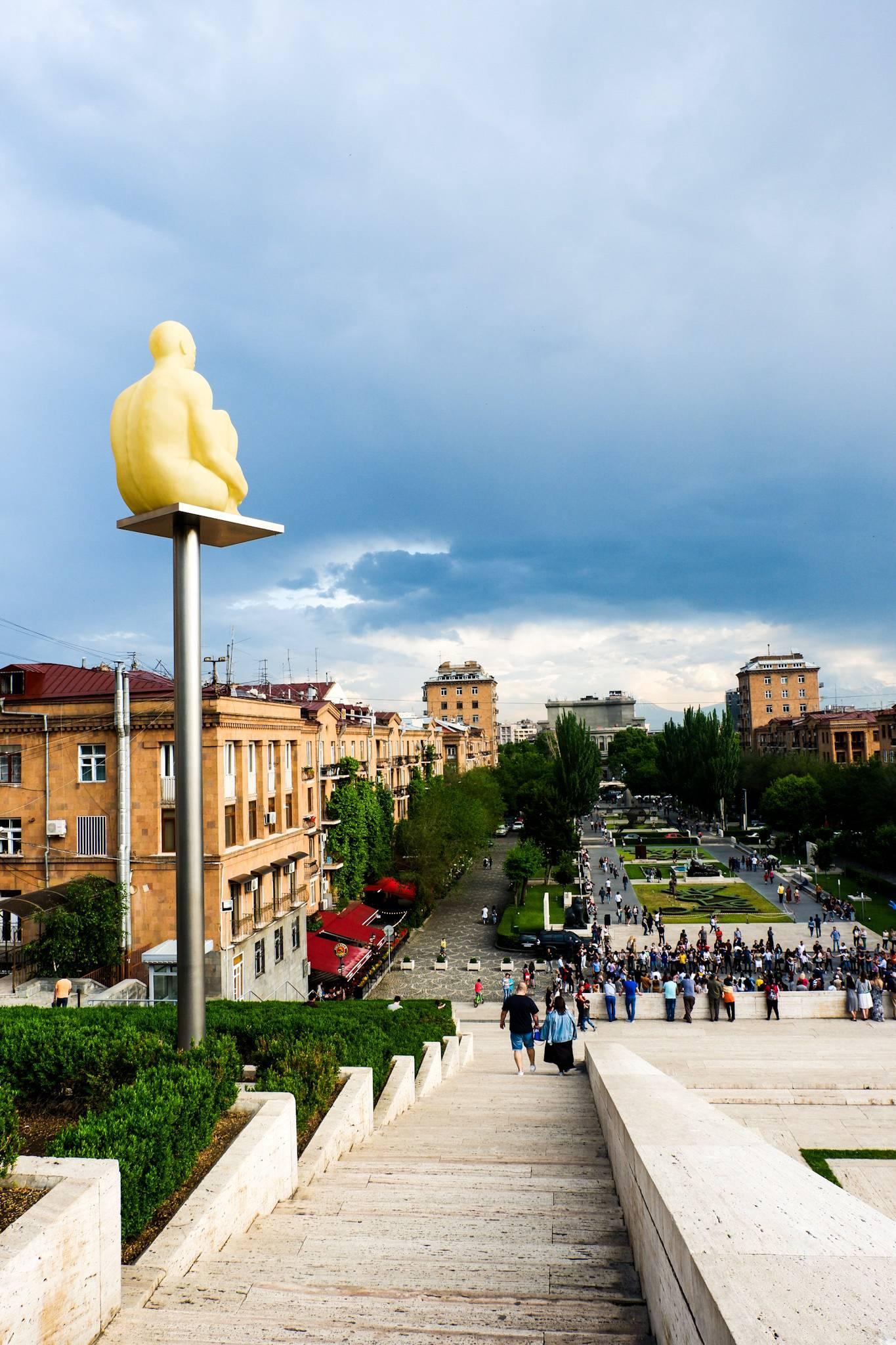 Cascade stairs and art in Yerevan Armenia