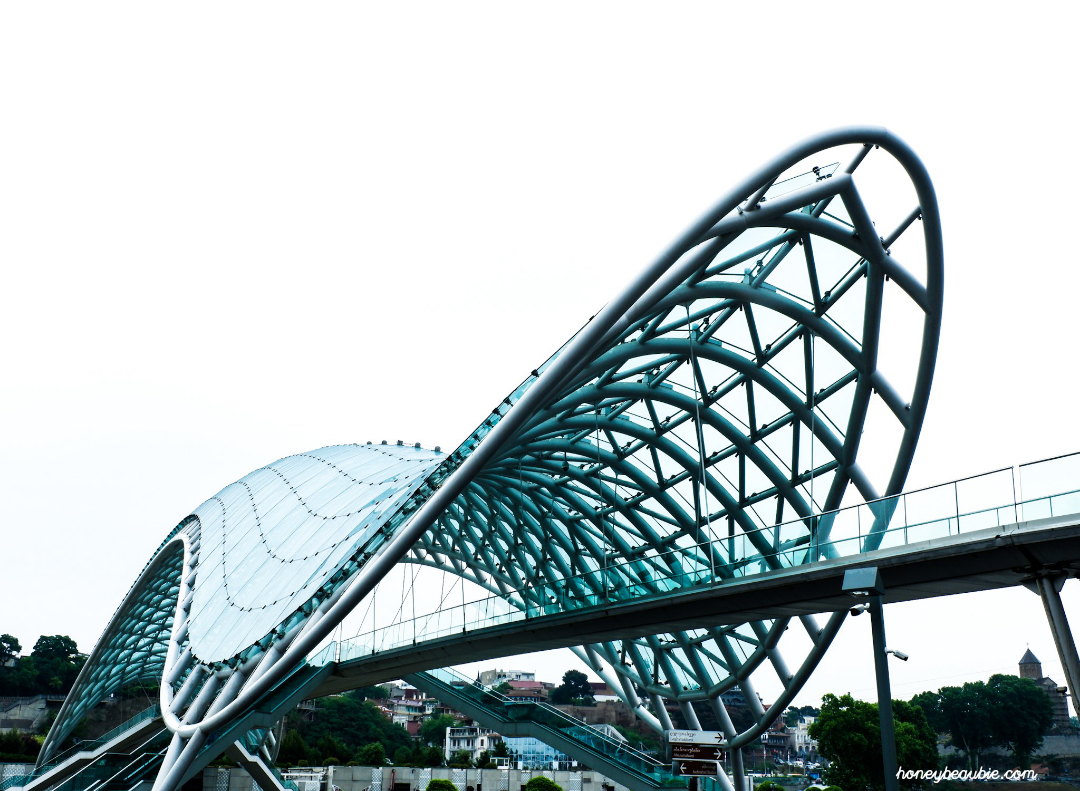 The famous Peace Bridge in Tbilisi, Georgia.