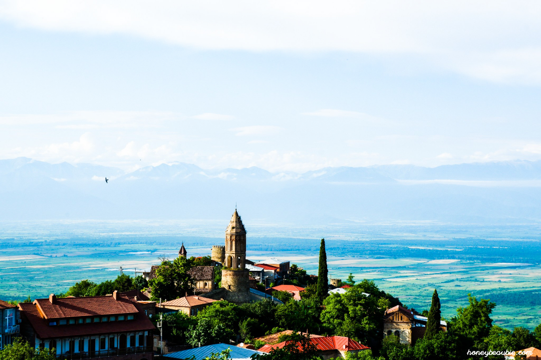 Landscape photo of Sighnaghi, Georgia's City of Love.