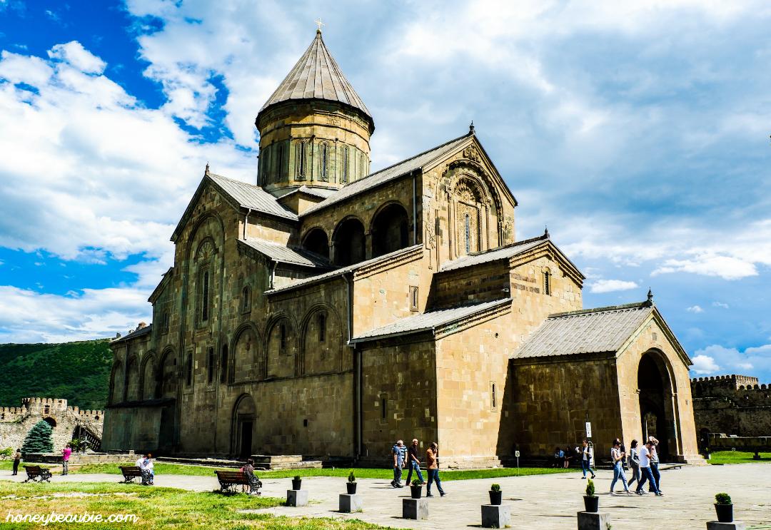 Infamous Svetitskhoveli Cathedral in Mtshketa, Georgia