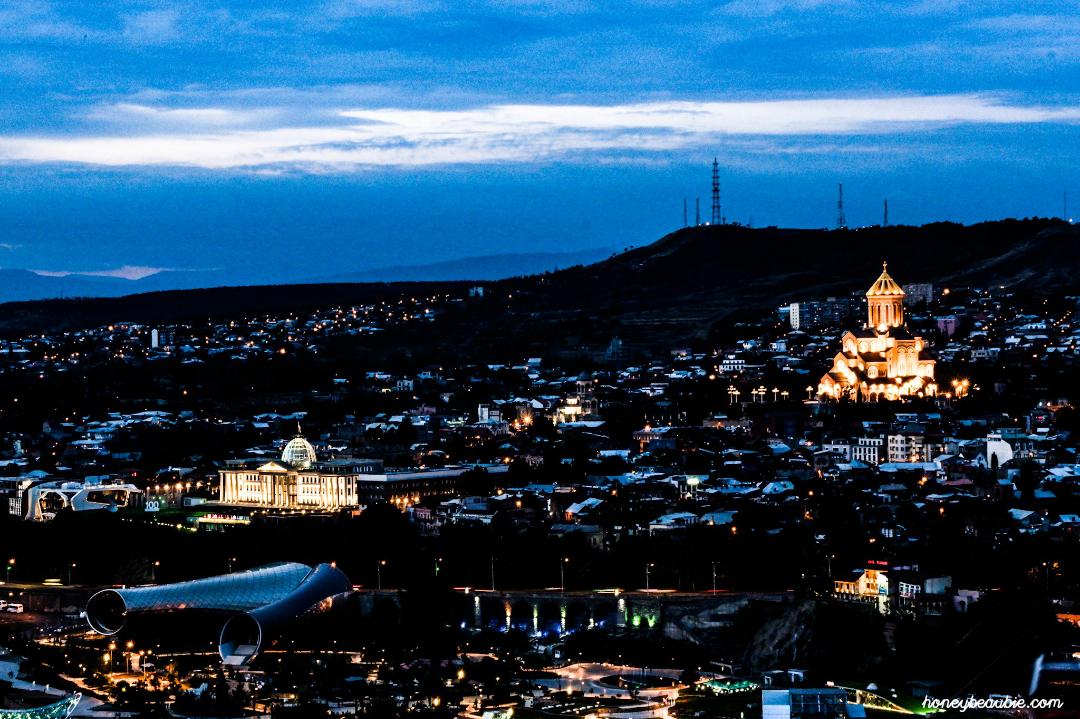 A look at Tbilisi City at night